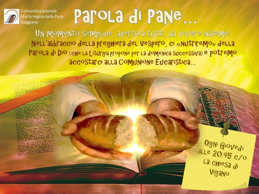 Chiesa di Vigano: lettura meditata della Parola di Dio della Domenica