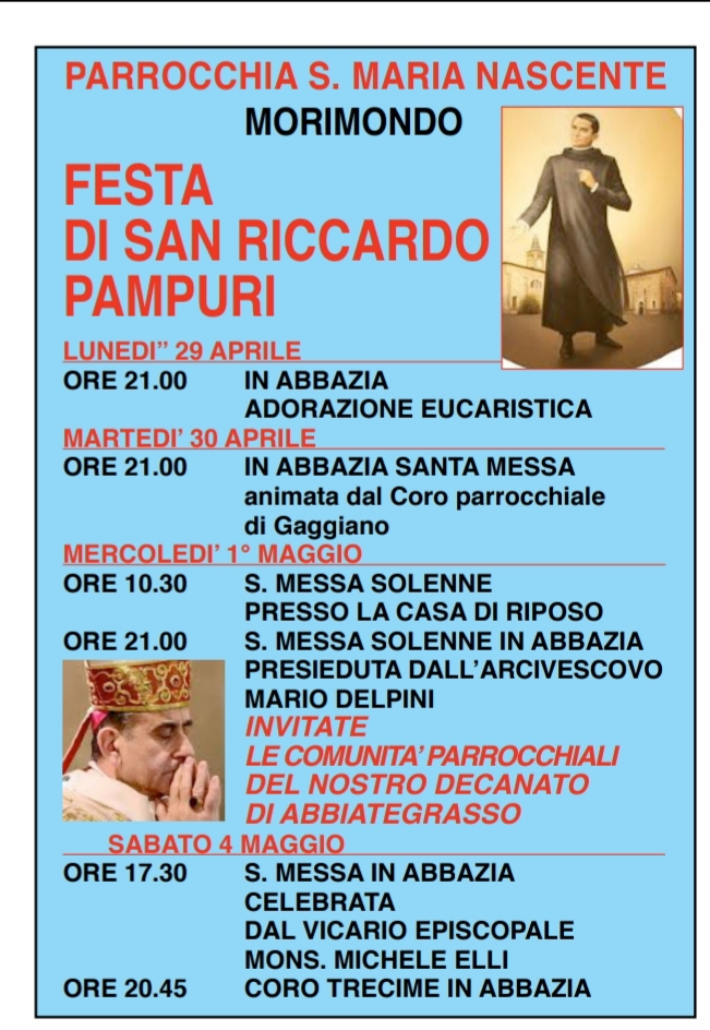 Festa di S. Riccardo Pampuri