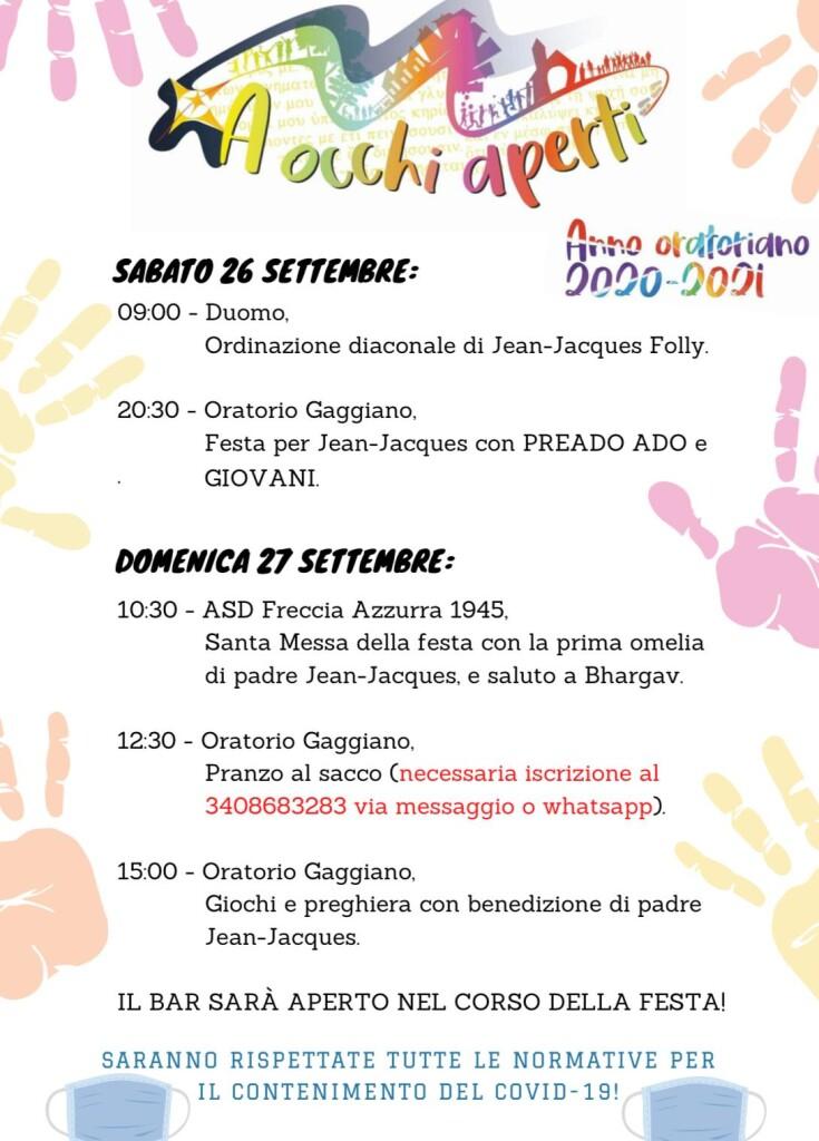Festa di apertura degli oratori!!