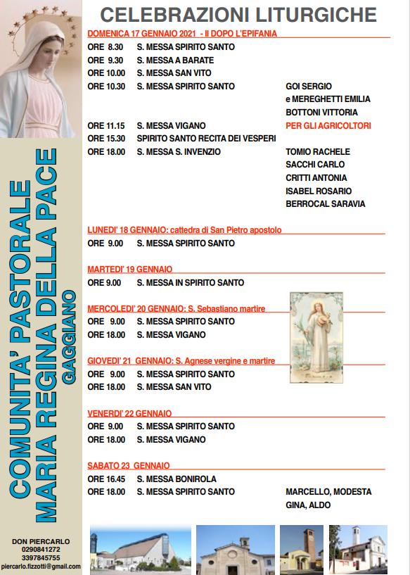 S.Messe della settimana