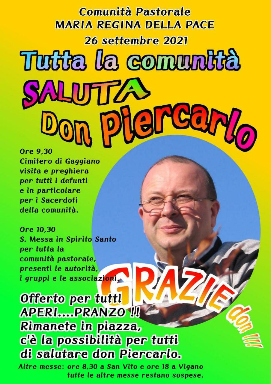 Saluto a don Piercarlo!!!